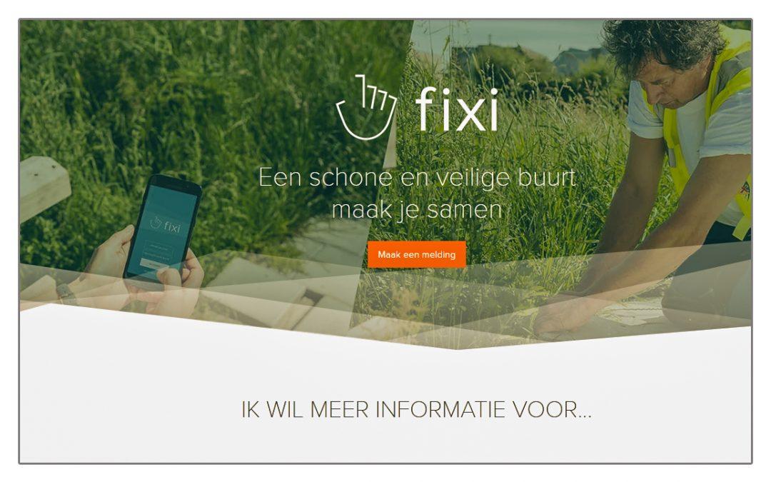 Fixi app vervangt de BuitenBeterApp